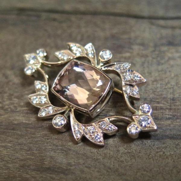 2015-10-27_18ct_rose_gold_broach_set_with_diamonds_a_cushion_cut_morganite