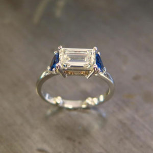 2015-10-28_Emerald_cut_diamond_ring_and_trillion_sapphirs