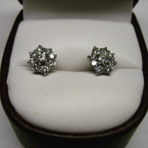 Cluster earrings (Exquisite diamond stud earrings)