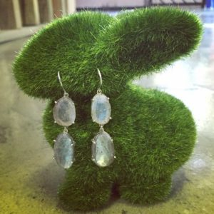 Dangle earrings (Classy silver and labrodite earrings)