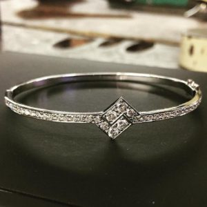 Diamond bangle (sparkly diamond or white gold bangle)