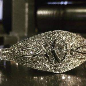 Diamond bangle (unique pear shaped diamond bangle)