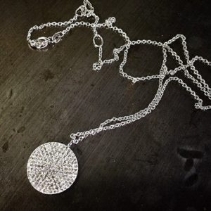 Diamond disc pendant (Lovely diamond disc pendant)