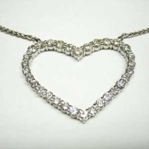 Heart pendant (Gorgeous diamond heart necklace)