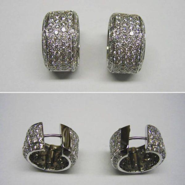 Huggie earrings (Perfect diamond hoop earrings)
