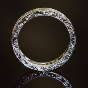 Wedding band (Gold or diamond wedding ring with engraving)