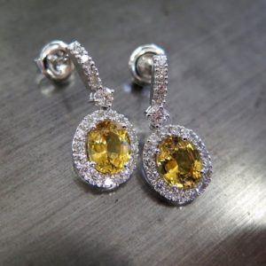 Yellow sapphires (gorgeous earrings qith pearls and diamonds)